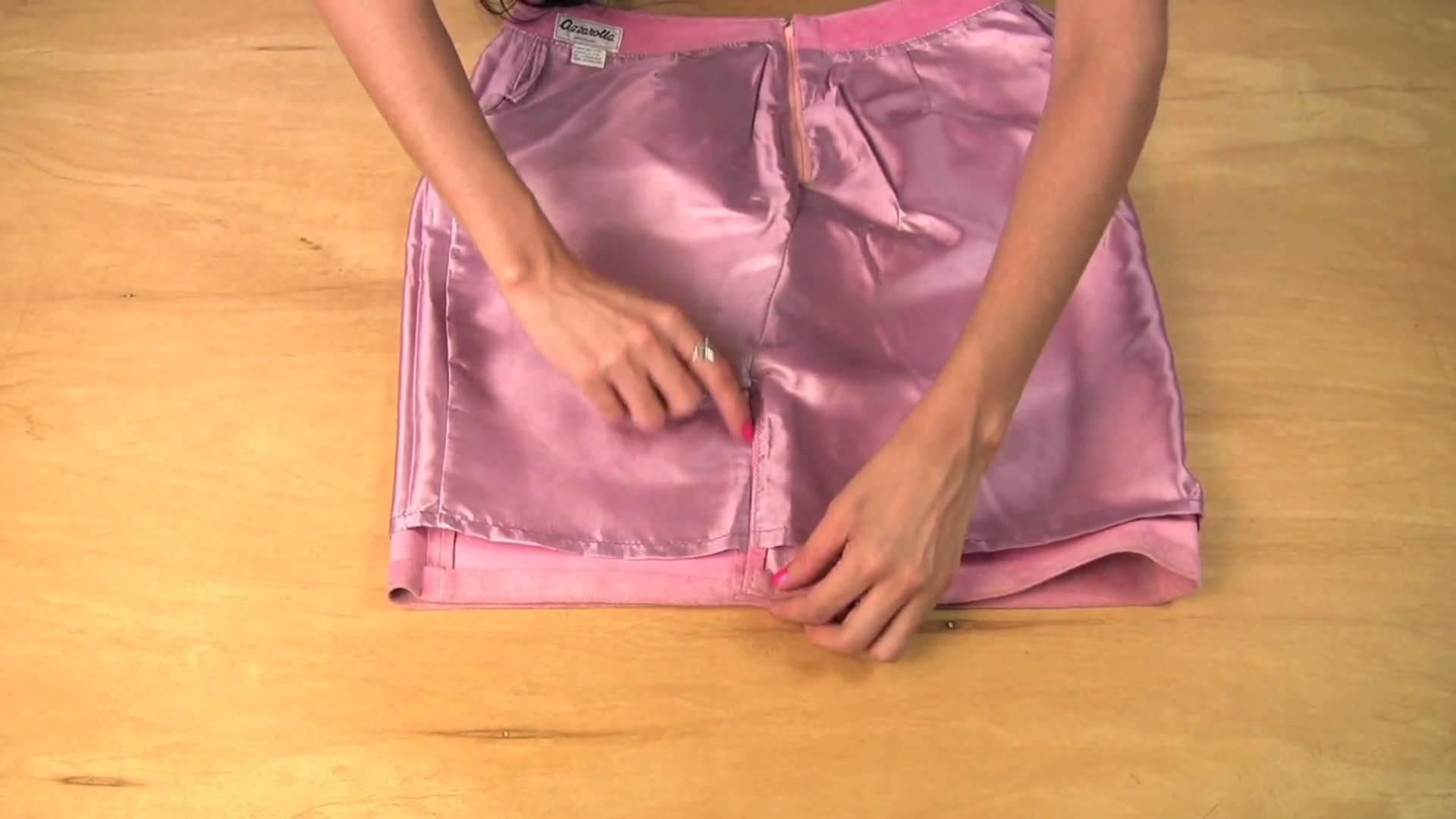 Over last season's skirt? Repurpose & turn it into a unique