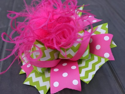Over the Top Hair Bow with Artemis in Love - Method 1