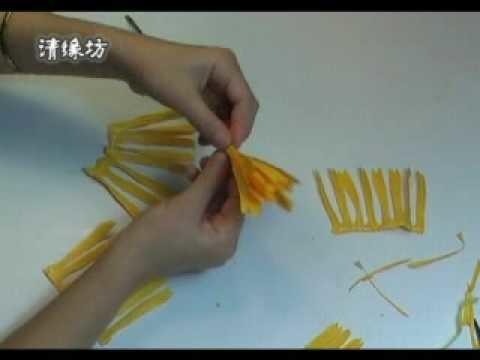 Paper flower making kit - Example