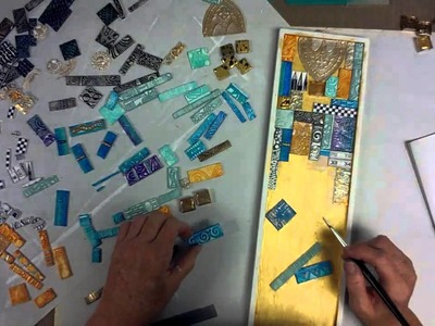 Polymer Clay Tile Mosaic -- Patti Tolley Parrish -- Inky Obsessions
