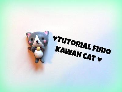 Polymerclay tutorial kawaii cat - Tutorial fimo gatto kawaii