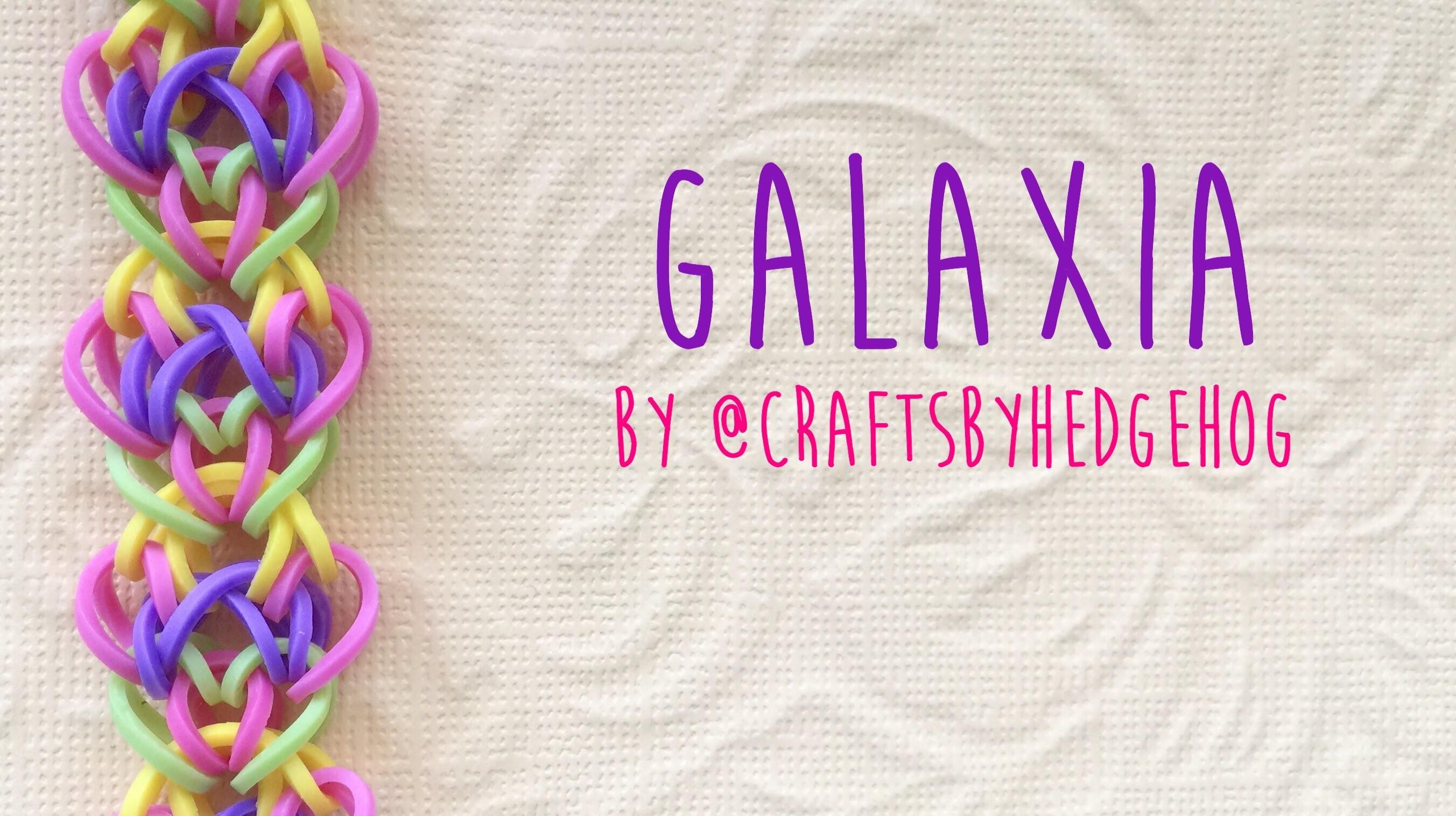 Rainbow Loom Bands Galaxia by @craftsbyhedgehog tutorial
