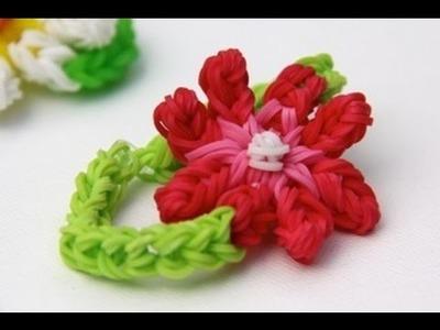 Rainbow Loom - Blooming Flower Bracelet - English Tutorial - Loom bands