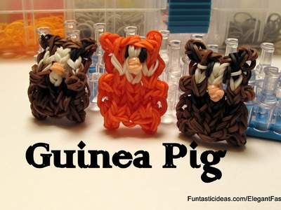 Rainbow Loom Guinea Pig Figure.Charm - How to - Animal Series