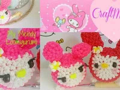 Rainbow Loom loomigurumi My Melody TSUM TSUM
