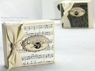 Stampin Up UK Easy Stick Fold Flat Gift Box