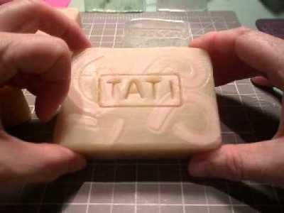 Stamping soap with homemade epoxy acrylic stamp