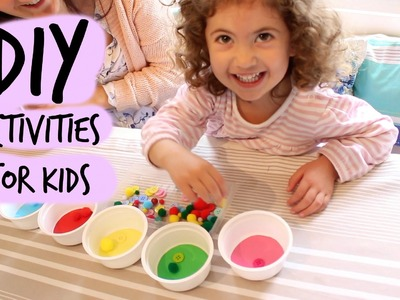 Three fun, inexpensive, DIY activities for small children.