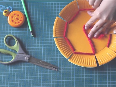 Weaving a paper plate