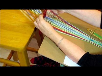 Weaving on a Sami 2 Hole Rigid Heddle Loom - Beaivi Loom
