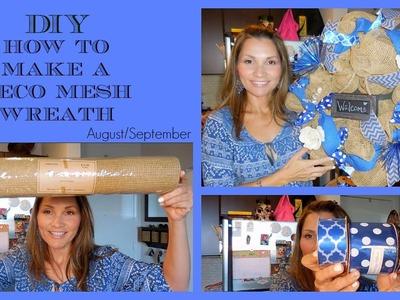 DIY-How-to make a Deco Mesh Wreath♡