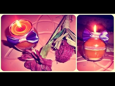 DIY-Kako napraviti ukrasnu svecu.How to make decorative candles. Cómo hacer velas decorativas