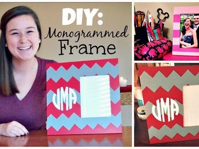 DIY: Monogrammed Frame