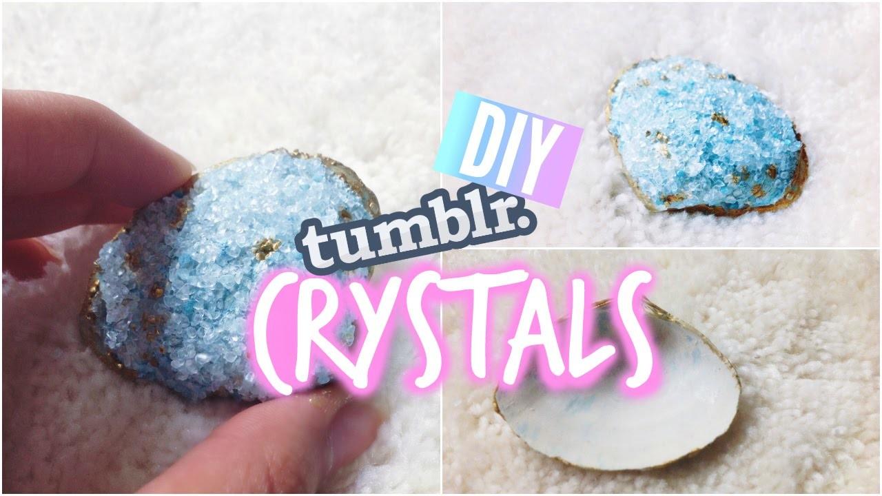 DIY Room Decor: Tumblr Inspired Crystals with SEASHELLS!