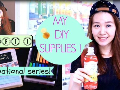 DIY School Supplies: Organized and cute! Part 1!
