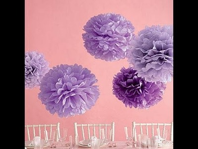 DIY: tissue pom pom ball princess disney theme girls
