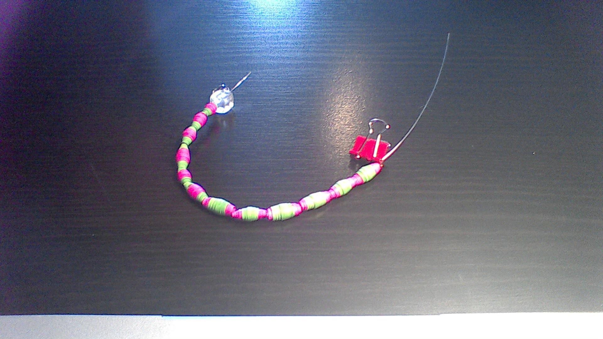 How I  make my paper beads hard and shiny
