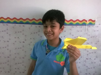 How to build a DC -3 paper airplane.swallow plane  :  Origami 18