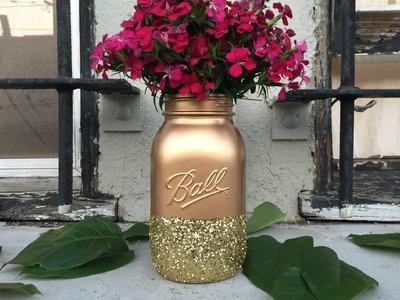 HOW TO: DIY Glitter Vase
