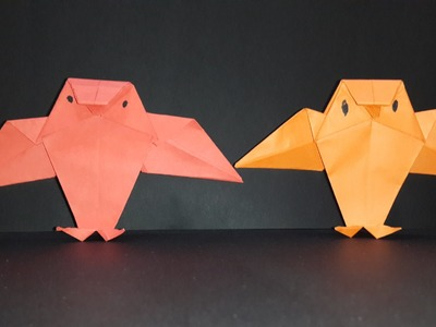 How to make a paper OWL-Origami