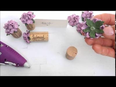 Kara's Vineyard Wedding - DIY Single Cork Place Card