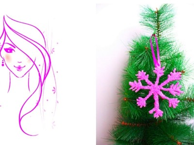 MORENA DIY: HOW TO MAKE  CHRISTMAS TREE SNOWFLAKE ORNAMENT