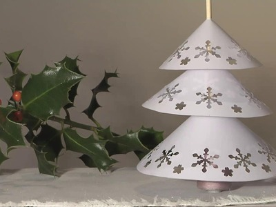 Noel deco !! christmas decoration !! sapin napperon papier diy