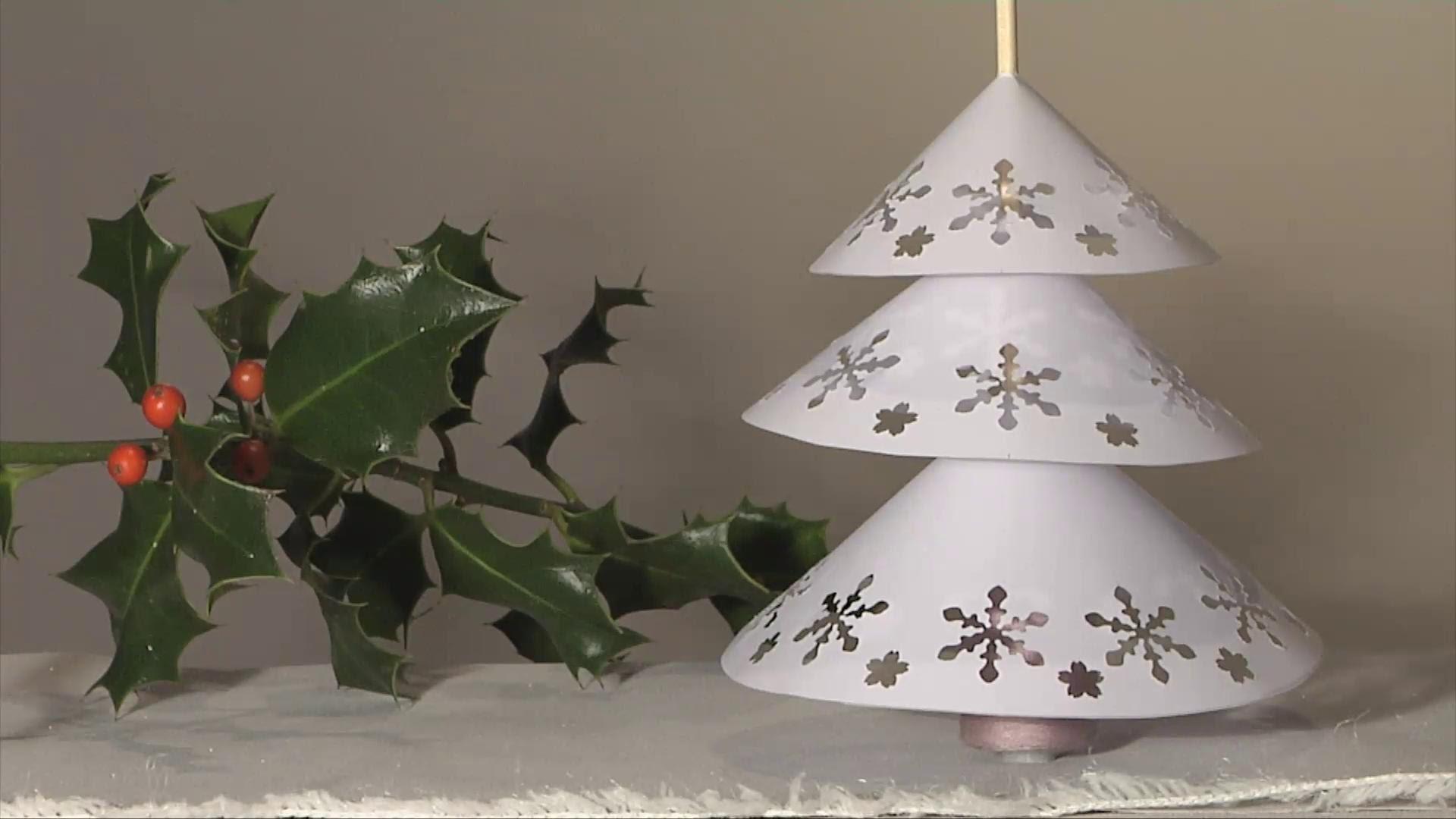 Noel deco !! christmas decoration !! sapin napperon papier diy