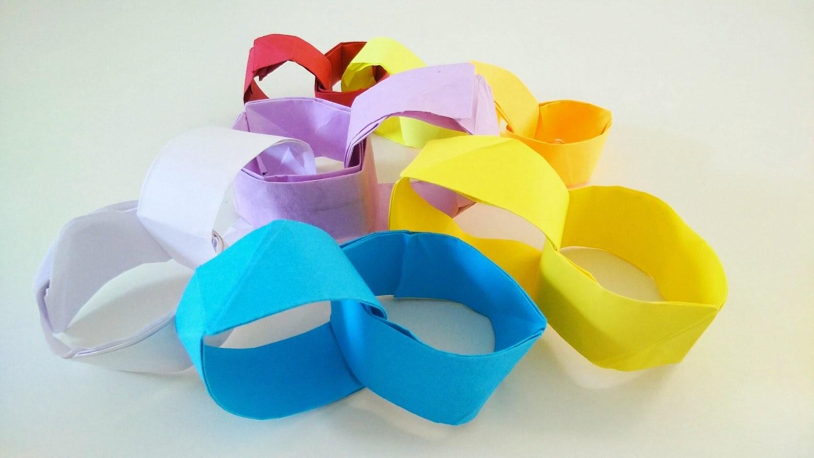 Origami Paper - Interlocking Rings (Single Square Sheet)