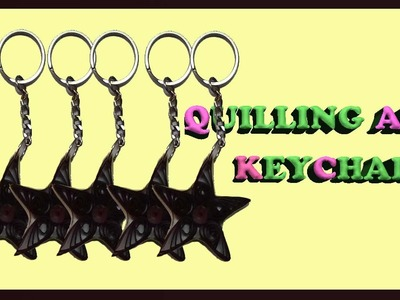 Paper quilling star keychain
