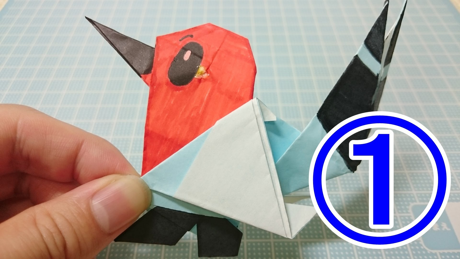 Pokemon Origami Paper Easy Instructions Fletchling Face