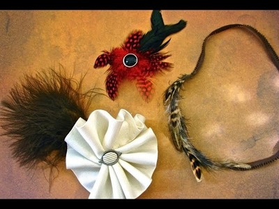 3 Feathered Hair Accessories