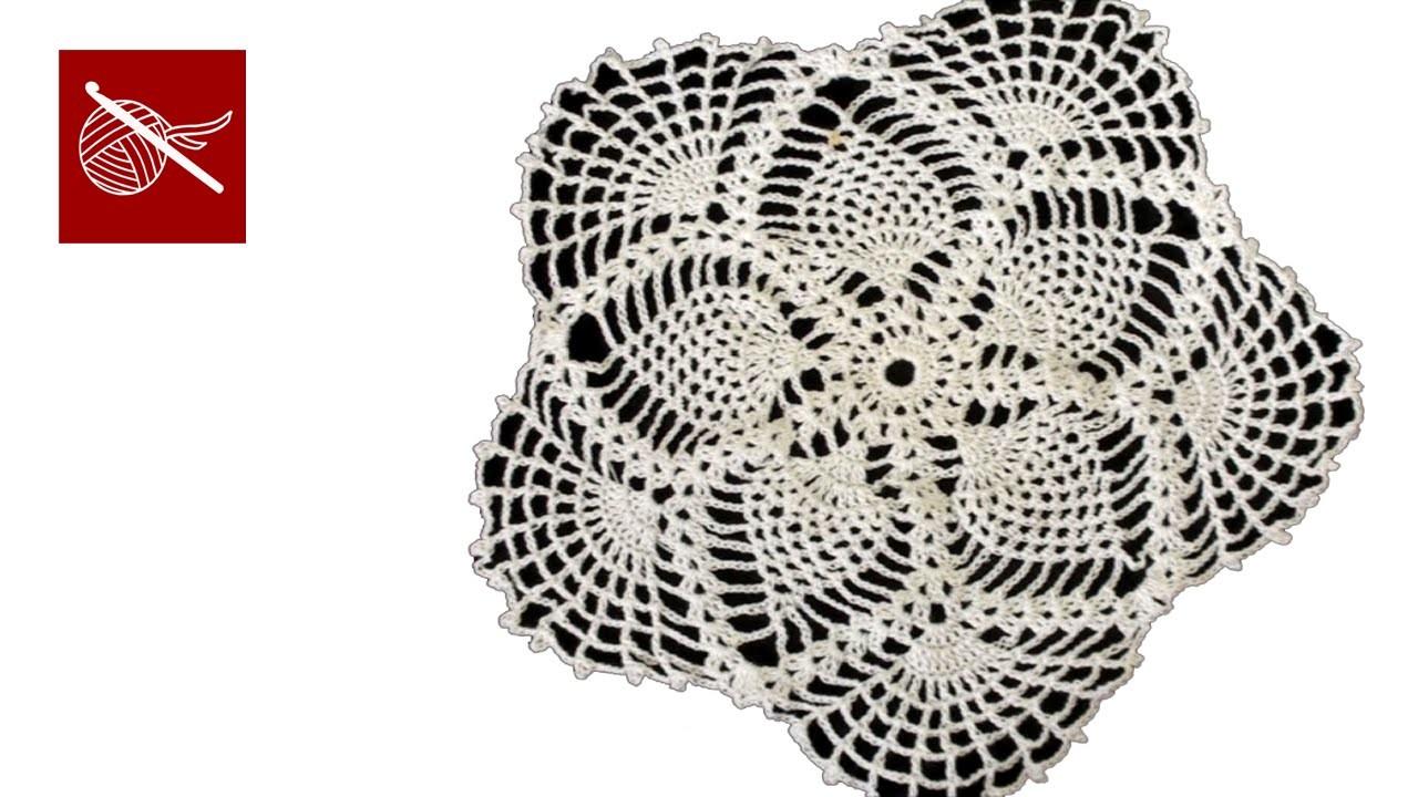 Crochet Lace Pineapple Doily Part 6 Tutorial