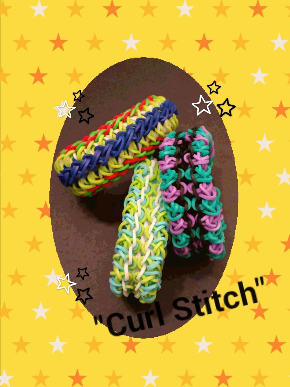 """""""Curl Stitch"""" Rainbow Loom Bracelet.How To"""