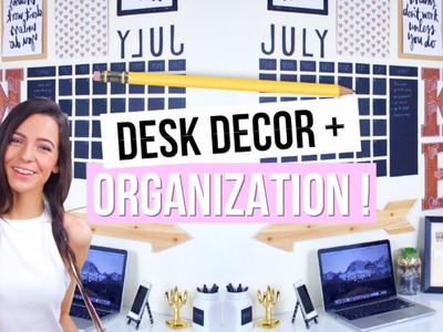 DIY Back To School Desk Decor + Organization! 2015