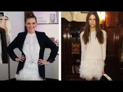 DIY Fashion, Feathered Skirt, Fab Flash