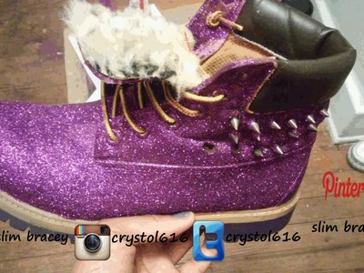 DIY Glitter Timberland Boots part 2