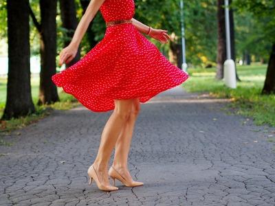 DIY: red polka dots dress