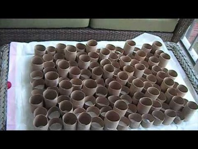 DIY Toilet Paper Wall Design tutorial