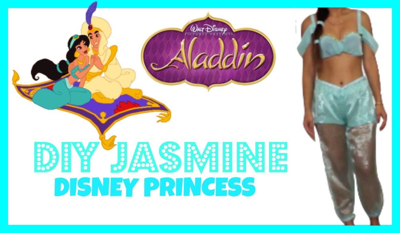 EASY DIY HALLOWEEN COSTUME: How to be Jasmine Disney Princess!