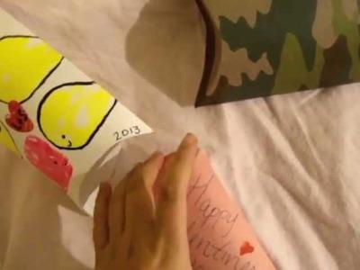Handmade Valentines Day Pillow Gift Box