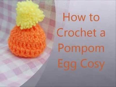 How to crochet pom pom egg cosy