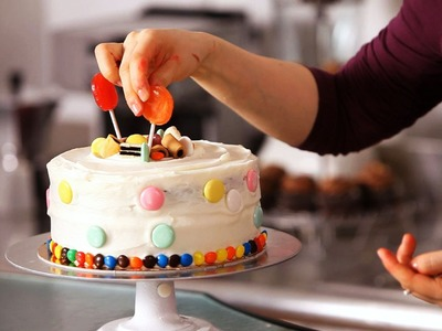 How to Decorate a Cake with Candy | Cake Decorating