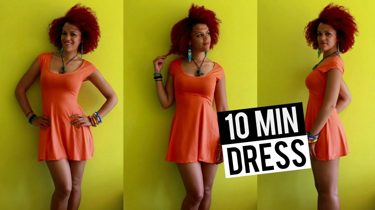 How To DIY a Summer Skater Dress in 10 min