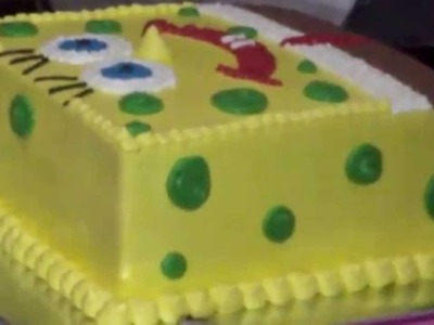 How to Easy Decorating SpongeBob Cake