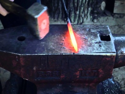 How to forge an arrow head part 1 of 3 - The drift