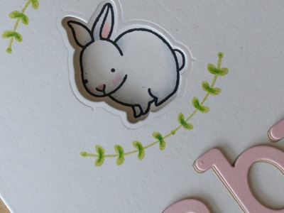 How to make a baby card with a die cut window