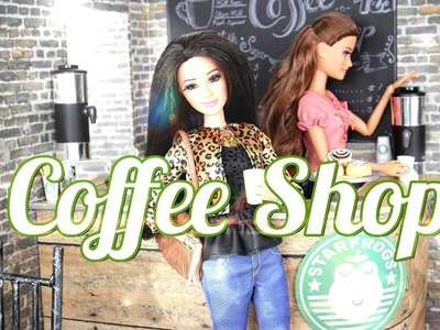 How to Make a Doll Coffee Shop - Doll Crafts