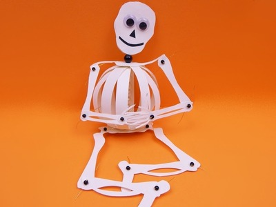 How to make a paperball skeleton halloween decoration DIY (tutorial + free pattern)