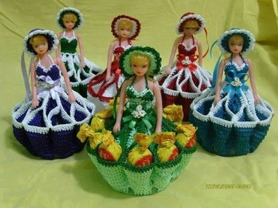 How to make dolls crocheted dresses
